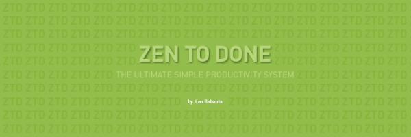 Zen To Done - fragment okładki