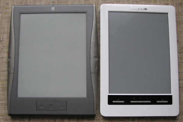 Porównanie ekranów - irex i Jetbook