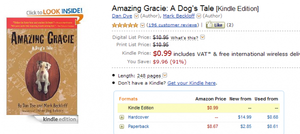 Amazing Gracie w Kindle Store
