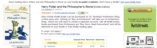 Potter w Kindle Store
