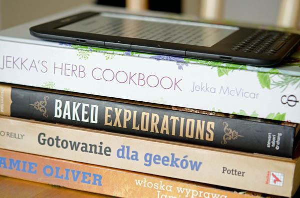 Kindle i książki kucharskie