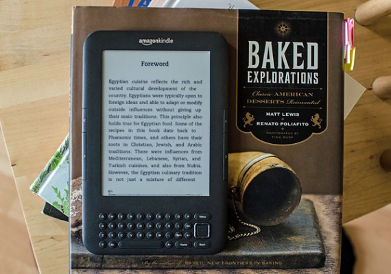 Kindle i książka kucharska