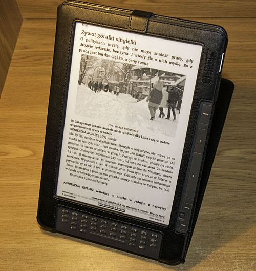 Gazeta na Kindle DX