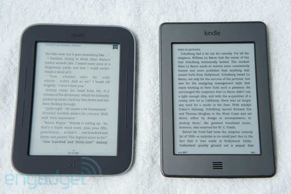 Nook Touch i Kindle Touch