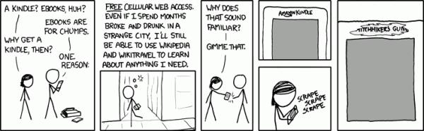 Kindle jako przewodnik Autostopem przezgalaktykę - wystarczy tylkozdrapać nazwę