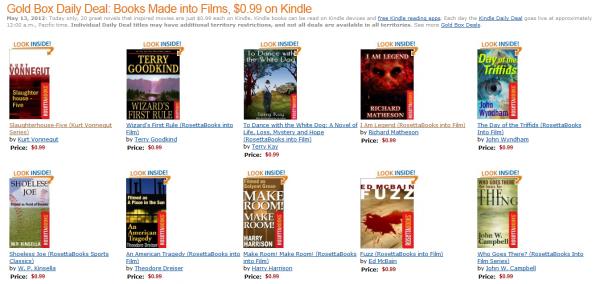 Powieści z Amazonu adaptowane do filmów