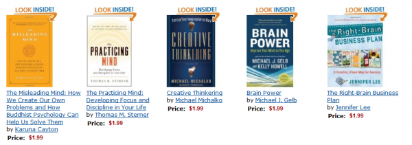 "Kindle Daily Deal: Five Top-Rated ""Brain Books"""
