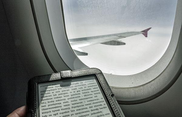Kindle w samolocie