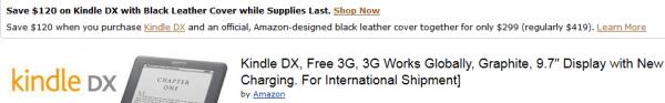 Kindle DX za 299$