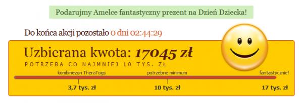 Licznik zebranych pieniędzy na stronie Złotych Myśli: 17045 zł