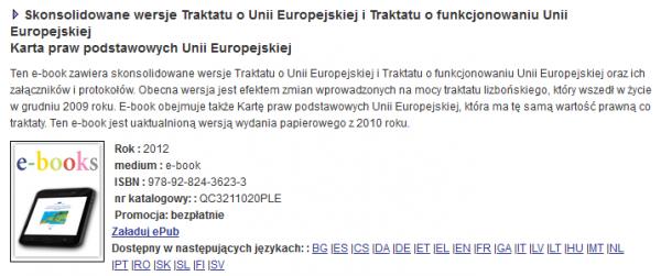 E-booki z Unii Europejskiej