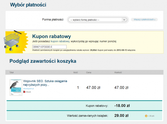 Rabat wsystemie ebookpoint