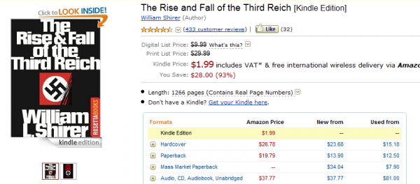 Powstanie i upadek Trzeciej Rzeszy w Kindle Store