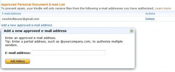 Adresy mailowe dopuszczone przez nas
