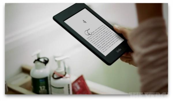 Kindle Paperwhite na reklamie