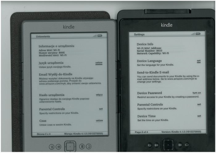 Stary vs nowy Kindle Classic