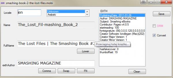 Mobi Edit i książka