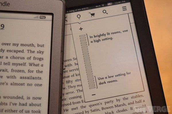 Kindle Touch i Kindle Paperwhite bez podświetlania
