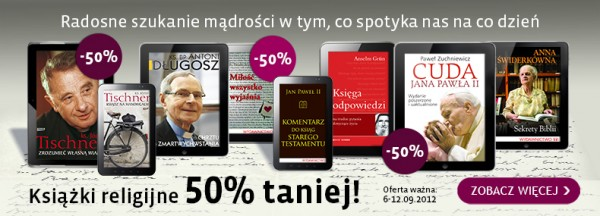 Książki religijne o 50% taniej