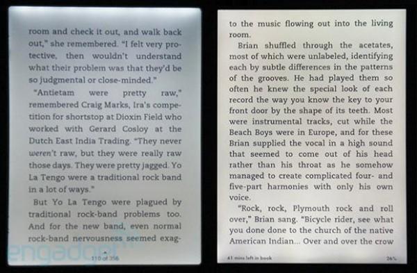 Nook i Kindle - porównanie podświetlania