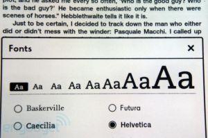 Wybór czcionki na Kindle Paperwhite