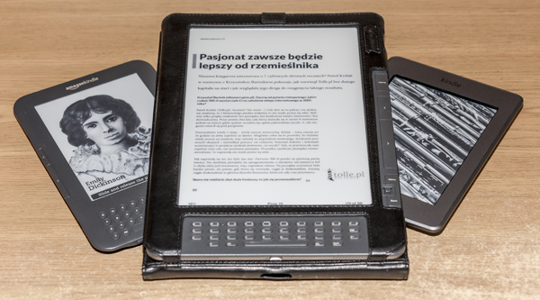 Kindle DX z młodszymi braćmi: Touch i Keyboard
