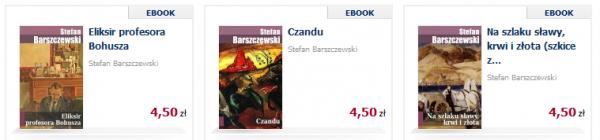 Przykładowe e-booki Barszczewskiego
