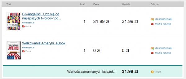 2 książki w koszyku - jedna gratis