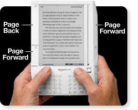 Kindle 1 - zmiana stron