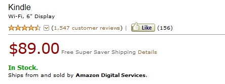 Kindle Classic za89 dolarów