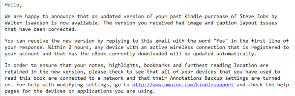 Mail z Amazonu - problemy z książką o Stevie Jobsie