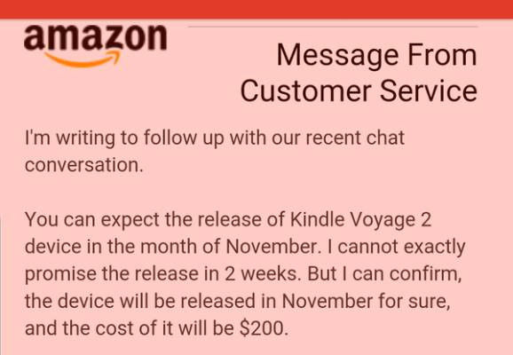 Message from customer service: You can expect the release of Kindle Voyage 2 device in the month of November.