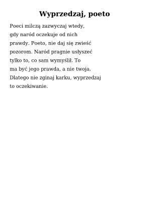 Wolne Lektury Mają Poezję Współczesną 20 Tomików Bezpłatnie