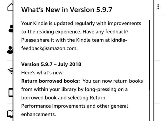 Aktualizacja 597 Dla Kindle Nic Dla Nas Nowego świat Czytników