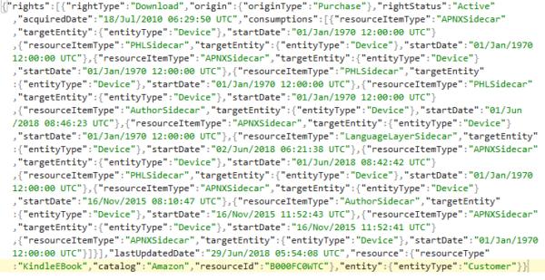 Zawartość pliku JSON: surowe, ciężkie doodczytania dane wjednym ciągłym wierszu