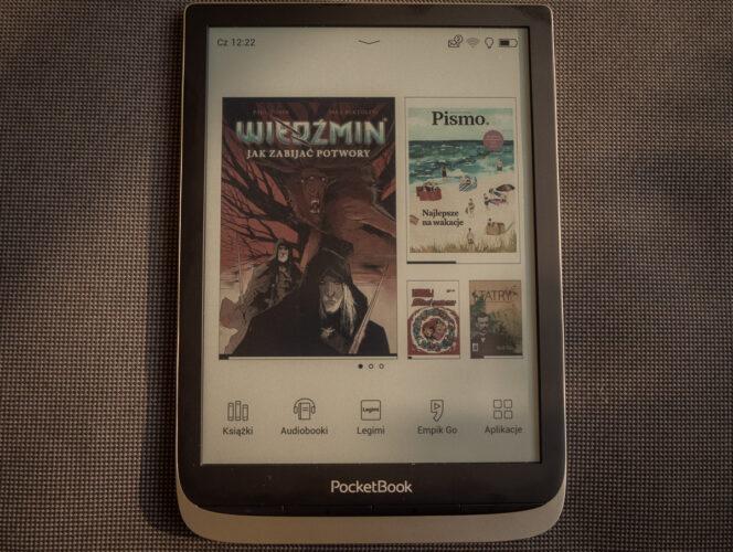 InkPad Color - ekran główny zkomiksem Wiedźmin